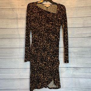 Michael Kors Leopard Print Dress Size 2